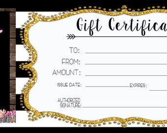 Gift Certificate - Wooden Floral