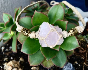 Hemp Crystal Wrapped Choker / MADE TO ORDER