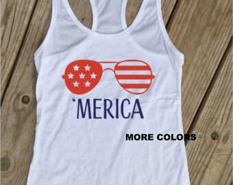 Merica - Racerback Tank Top - USA