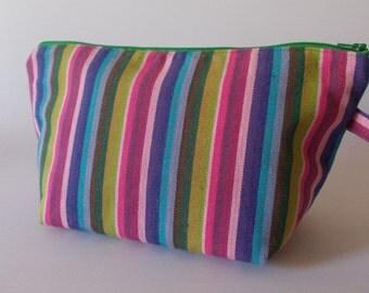 Make-up bag stripes color