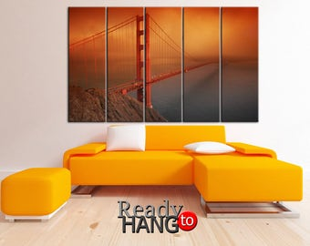 San Francisco Art, Golden Bridge art, San Francisco canvas, Golden Bridge canvas, Bridge canvas, Bridge art, San Francisco print, Landscape