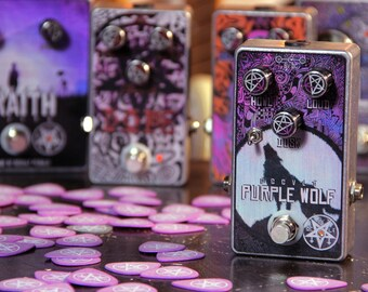 Occvlt Pedals Purple Wolf Distortion - handmade boutique guitar distortion effect pedal