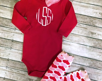 Girls monogrammed Shirt, monogrammed outfit, baby outfit, going home outfit, toddler monogrammed outfit, personalized shirt, toddler shirt