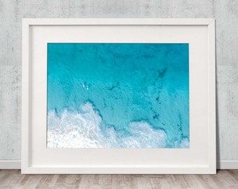 Big Blue - Fine Art Print, Wall Art, Drone, Aerial, Photography, Home Decor, Ocean, Beach, Poster