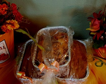 Homemade Breads , Apple Fritter , Pumpkin Bread and Banana Bread Combo Pack