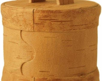 Spice jar from natural birch bark