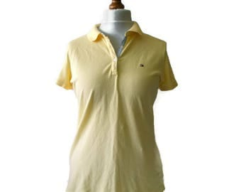 Vintage Tommy Hilfiger Polo ,Size Medium, Yellow Tommy Hilfiger Polo, Vintage Tommy Hilfiger, Womens polo, 90s vintage