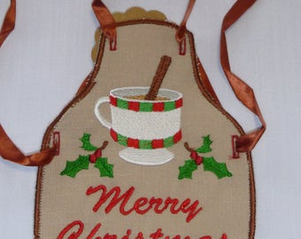 Merry Christmas Cheer Bottle Apron