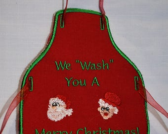 We Wash You A Merry Christmas Apron