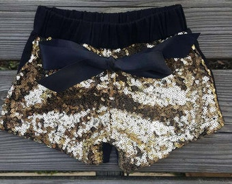 Baby Girl Sequin Shorts- Medium