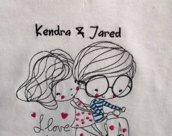 Women's embroidered shirt, Motorcycle shirt, Personalized shirt, Embroidered Custom shirt, Personalized Custom embroidered shirt