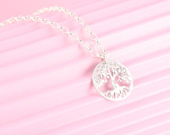 925 Silver chain with tree of life pendant, tree of life, the world tree