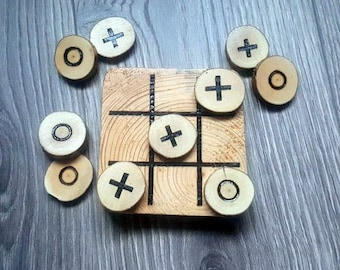 Tick-Tack-Toe, wooden board game for kids, wood toy, handmade game, natural tree, ecologic clean product ,great gif