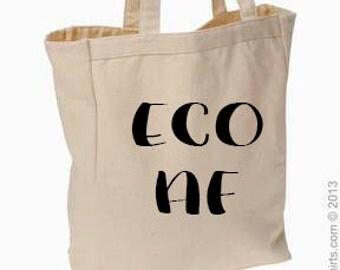 Eco AF Canvas Tote, Market Bag