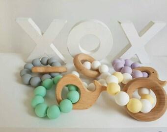 Pastel Pop! Silicone Bead Nursing Rings