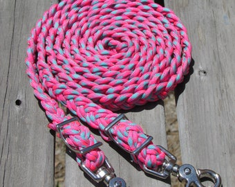 "8 FT 6 STRAND REINS ""Cotton Candy"""