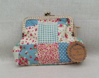 Patchwork Make Up Bag/Large Purse