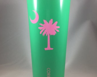 Palmetto Tree and Moon Decal