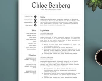 Professional Resume Template for Pages and MS Word. Complete 1,2,3 Pages Template. Editable CV template. Professional Resume Template