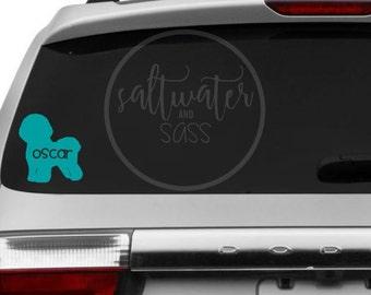 bichon frise vinyl car decal bumper sticker vehicle decal car decal bumper sticker dog sticker dog decal - Frise Vinyle