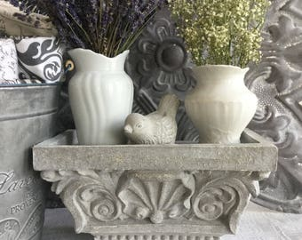 Wall Shelf with Carved Stone Design ~ Small Shelf with Architectural Design ~ Decorative Shelf ~ Ornate Shelf ~ French Country Decor