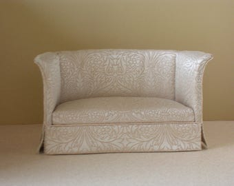 Miniature Dollhouse Sofa