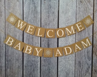 Welcome baby banner | Etsy