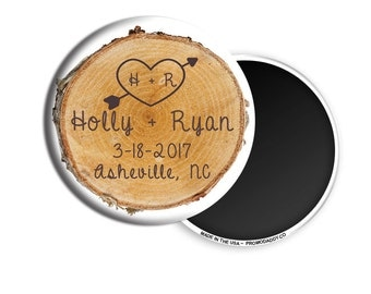 "FREE US SHIPPING Custom Save The Date Magnets 2.25"" Premium Fridge Magnet"