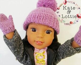 Knitting Pattern For American Girl Doll Mittens : 14 Doll Knitting Pattern fits American Girl Wellie