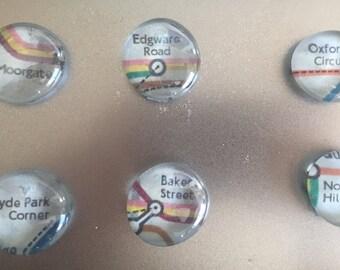 London Tube Map Magnets