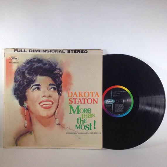 Dakota Staton - More Than The Most - Vinyl Record ST 1325 - C1959