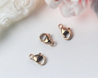 4.8 x 9mm 14K Rose Gold Filled Lobster Clasp