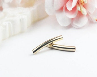 2x15mm 14K Gold Filled Curved Tube