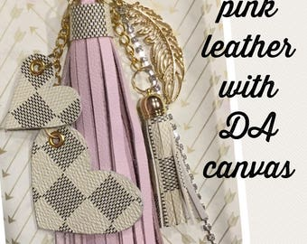 Bling Option - Your Choice of Tassel Color + Your Choice Louis Vuitton Canvas Accents