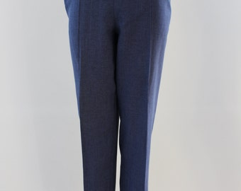 Plain Trousers (Dark Indigo)