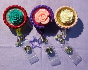 Resin Rose Badge (set of 3)