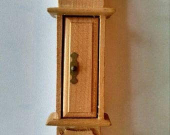 Vintage Wooden Grandfather Clock, Miniature, Doll House Furniture