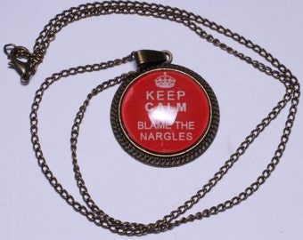 Keep Calm and Blame the Nargles Necklace or Keychain Luna Lovegood