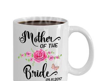 Mother of the Bride Custom Coffee Mug | Mother of the Bride Gifts, Bride's Mother Personalized Mug, Bridal, Mother of the Bride Mugs, Cup