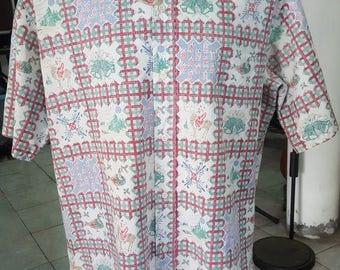 159- 1989 Reyn Spooner Mele Kalikimaka Aloha Hawaiian shirt XL Christmas Xmas Tailored in Hawaii 60/40 excellent condition