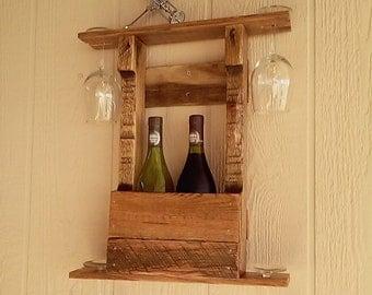 wooden wine rack wine holder handcrafted rustic wine rack