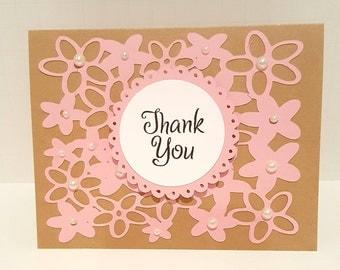 Thank You Card - Floral Design Thank You Card