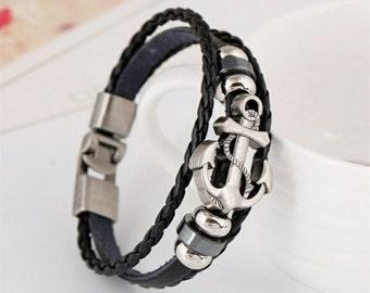 Leather Anker Bracelet.
