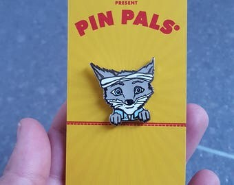 Wes Anderson Fox, Kristofferson, Fox Lapel Pin, Bandit Mask, Best Friends, Fox Jewellery, Wes Gifts
