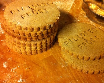 Gluten Free Cookies - Lemon Pepper Biscuits Custom Stamped With Your Own Words!