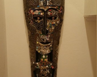 Real Borneo Mask Hoodoo Head