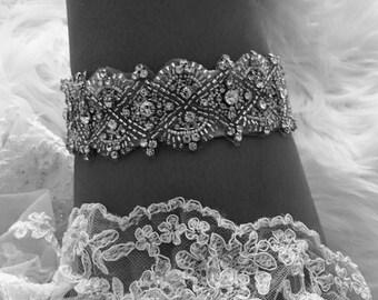 Bouvardia Goddess, Garter, Wedding Garter, Bridal Garter, Vintage Garter, Rhinestone Garter, Toss Garter, Keepsake Garter, Garter Belt,Bride