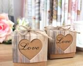 100 DIY Wedding Favor Boxes/Kraft Gift Box/Rustic Favor Box with Twine/Wedding Gift Box for Bridesmaids/Bridal Shower Favor/DIY Gift/Vintage
