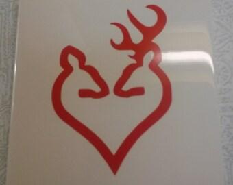 Buck & Doe in Heart 4 piece Coaster Set