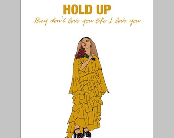 HOLD UP - Funny Card, Anniversary Card, Card for Him, Card for Her